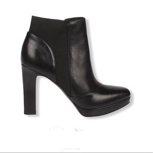 Spiga Black Tocarra Leather Platform Bootie